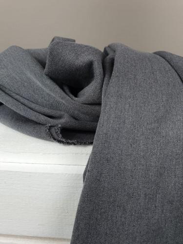 Polyester Hosenstoff Grau Meliert