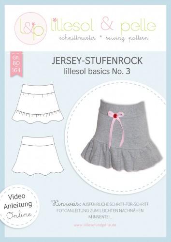 Lillesol & Pelle Schnittmuster basics No.3 Jersey-Stufenrock *mit Video-Nähanleitung*