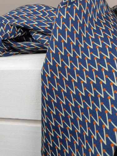 La Maison Victor Viskose Muster Blau
