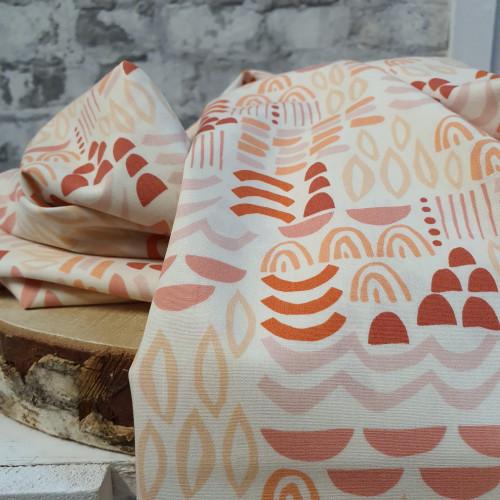 Art Gallery Fabrics Baumwollstoff Terrakotta