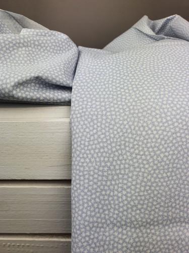 Westfalenstoffe Baumwollstoff Capri Sterne Grau Weiß