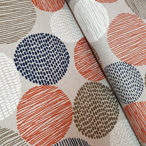 Cloud 9 fabrics: Canvas Ground Stepping Stones Red Homestyle by Eloise Renouf