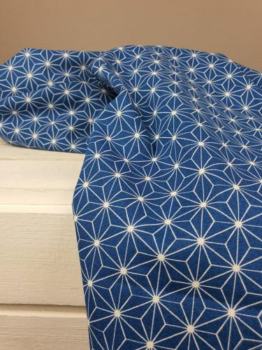 Westfalenstoffe Baumwollstoff Druckstoff Kopenhagen Sterne Blau