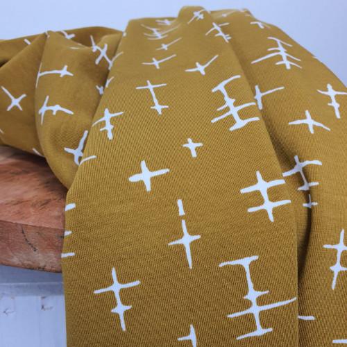 Jersey Senfgelb Weiße Sticks Matrix