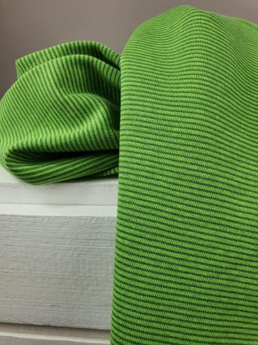 Bündchen Baumwolle Gestreift Grün