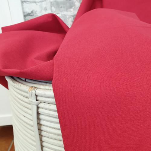 Westfalenstoffe Baumwollstoff Uni Rot