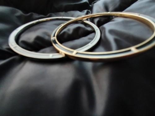 Große Gurtschlaufe / Ring Silber Weiß