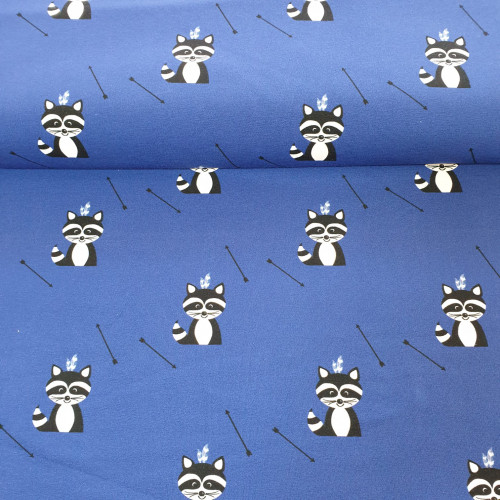 Hilco Jersey Waschbären Royalblau