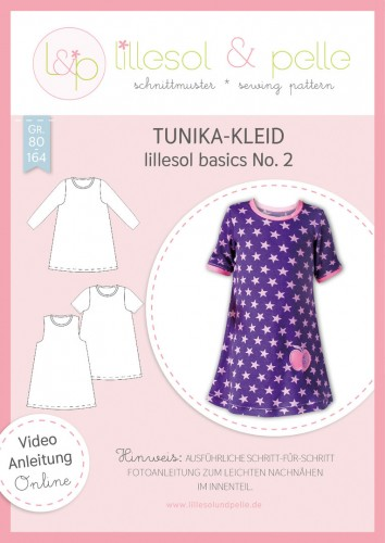 Lillesol & Pelle Schnittmuster basics No.2 Tunika-Kleid *mit Video-Anleitung*