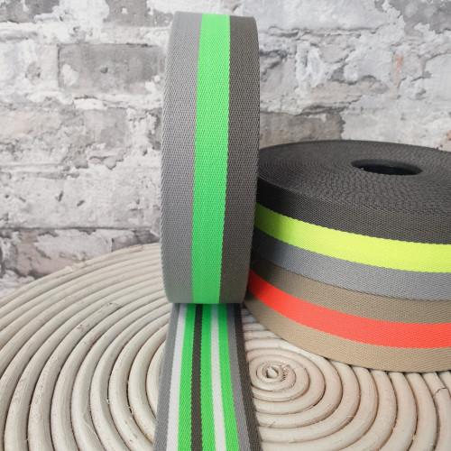 Gurtband Neon Grün 4 cm