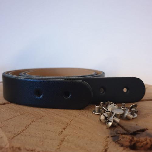 Miyako Lederriemen Taschengriff 50x2,5 cm Noir