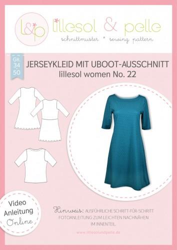 Lillesol & Pelle Schnittmuster women No.22 Jerseykleid mit Uboot-Ausschnitt *mit Video-Nähanleitung*