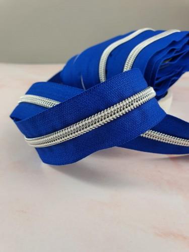 Endlosreißverschluss Metallisiert Royal Blau