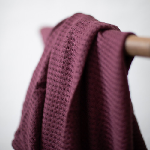 Mind The Maker Viskose Waffle Knit Grape