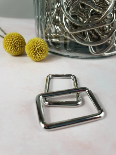Rechteck-Ring Silber 25/30/40 mm