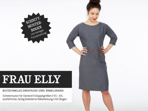 Studio Schnittreif Schnittmuster FRAU ELLY blitzschnelles Kleid mit Gürtel