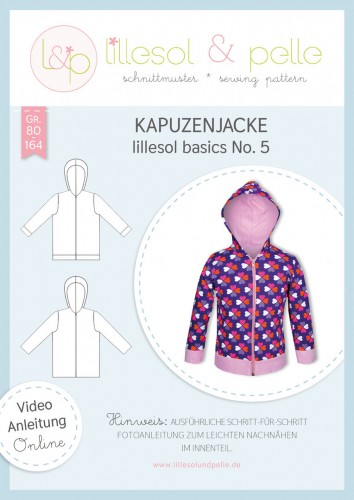 Lillesol & Pelle Schnittmuster basics No.5 Kapuzenjacke * mit Video-Nähanleitung *