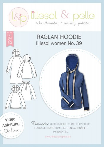 Lillesol & Pelle Schnittmuster women No.39 Raglan-Hoodie *mit Video-Nähanleitung*