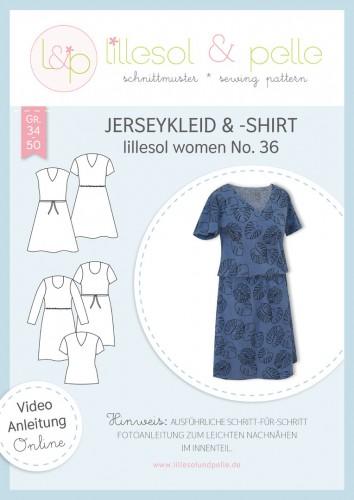 Lillesol & Pelle Schnittmuster women No.36 Jerseykleid & -Shirt * mit Video-Nähanleitung *