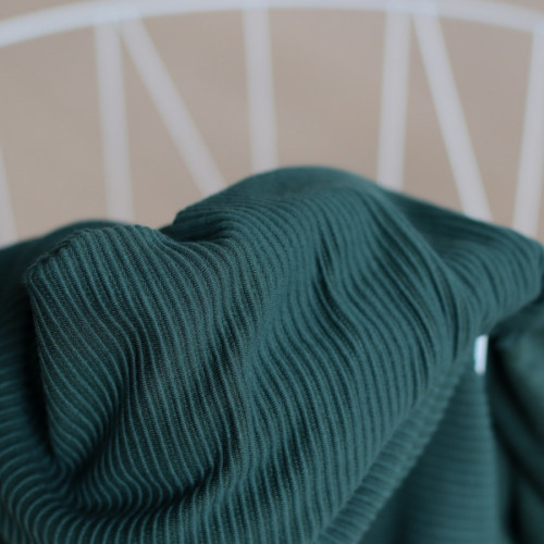 Meet Milk Self Stripe Ottoman Knit Deep Green