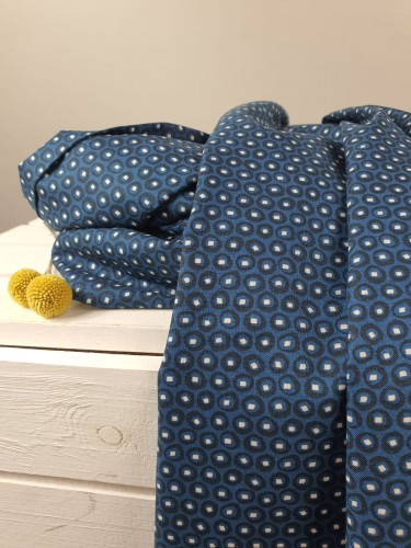 Cotton and Steel Baumwollstoff Feel The Void Topley - Blueberry Fabric