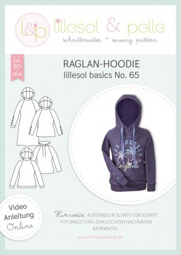 Lillesol & Pelle Schnittmuster basics No.65 Raglan-Hoodie *mit Video-Nähanleitung*