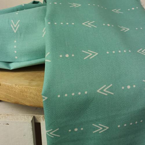 Art Gallery Fabrics Premium Baumwollstoff Craftbound Mint Grün Weiße Pfeile