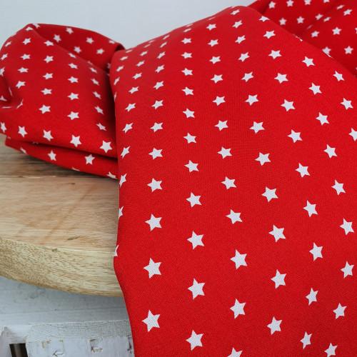 Westfalenstoffe Baumwollstoff Stars Red White