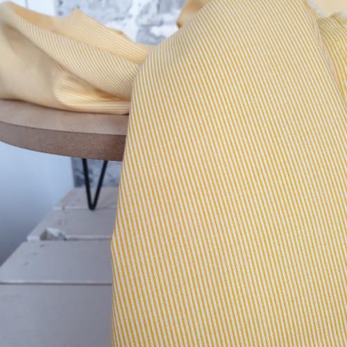 Makower Baumwollstoff Pin Stripe Gelb
