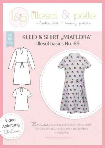 Lillesol & Pelle Schnittmuster basics No.69 Kleid & Shirt Miaflora *mit Video-Nähanleitung*