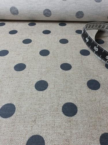 Hilco Beschichtete Baumwolle Beige Graue Punkte