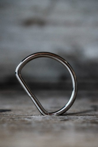 """Merchant and Mills D-Ring Silber 4,0 cm """"NICKEL D-RINGS 1.5″"""