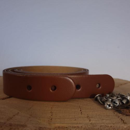 Miyako Lederriemen Taschengriff 50x2,5 cm Marron
