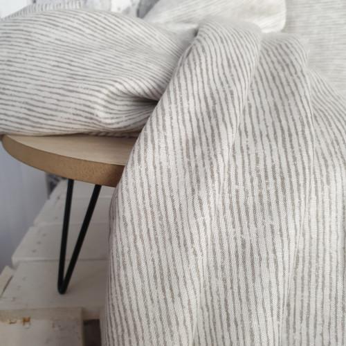 Westfalenstoffe Leinen Weiß-Grau