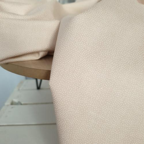 Makower Baumwollstoff Essentials Pin Dot White