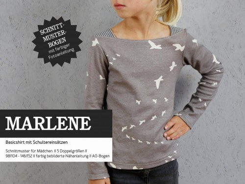 Studio Schnittreif Schnittmuster MARLENE Basicshirt für Mädchen