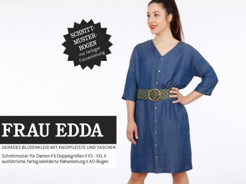 Studio Schnittreif Schnittmuster FRAU EDDA gerades Blusenkleid