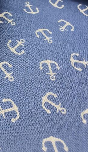 Westfalenstoffe Beschichtete Baumwolle Capri Anker Blau