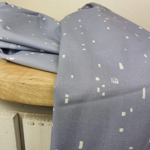 Art Gallery Fabrics Premium Baumwollstoff Grid Hellgrau