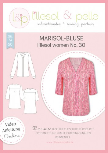 Lillesol & Pelle Schnittmuster women No.30 Marisol-Bluse * mit Video-Nähanleitung *