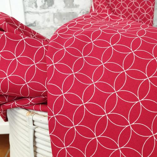 Westfalenstoffe Baumwollstoff Kopenhagen Rote Kreisel