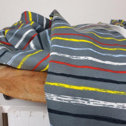 Stenzo Jersey Stripes Grau Gelb