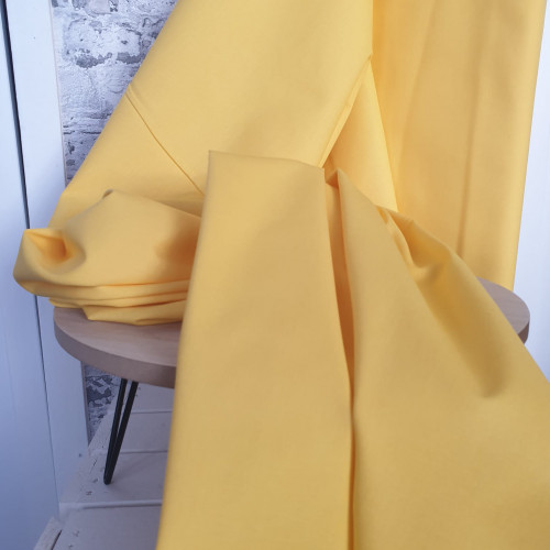 Westfalenstoffe Baumwollstoff Gelb Uni
