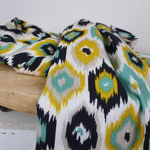 Art Gallery Fabrics Premium Baumwollstoff Craftbound Ecru Schwarz Senfgelb