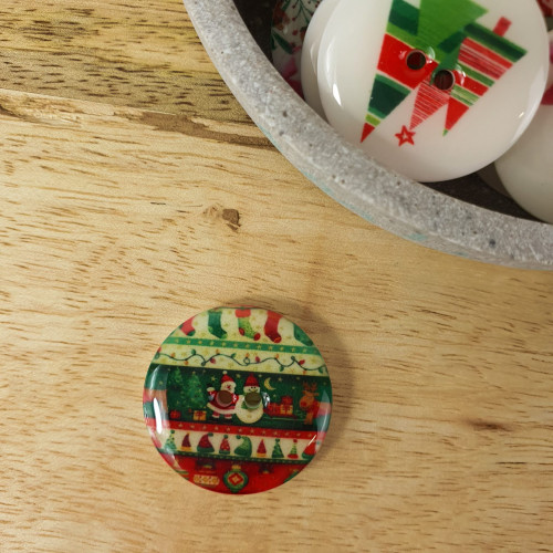 Knopf Weihnachtsmotiv 25mm