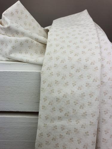 Westfalenstoffe Baumwollstoff Druckstoff Kyoto Blumen Weiß Sand