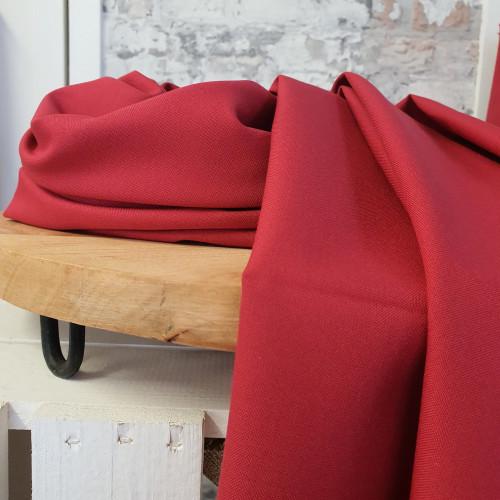 Westfalenstoffe Baumwollstoff Webstoff Trondheim Uni Rot