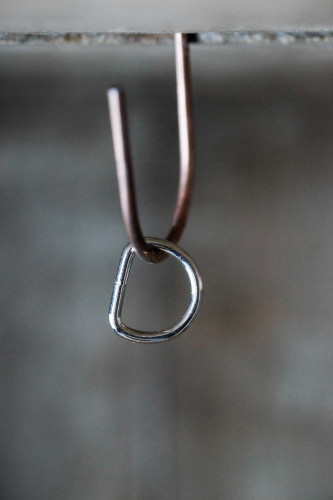 Merchant and Mills Nickel Plated D-Ring 1/2