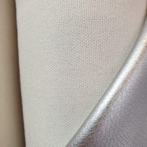 "Hilco Kunstleder ""Leather Brilliant"" Silber"