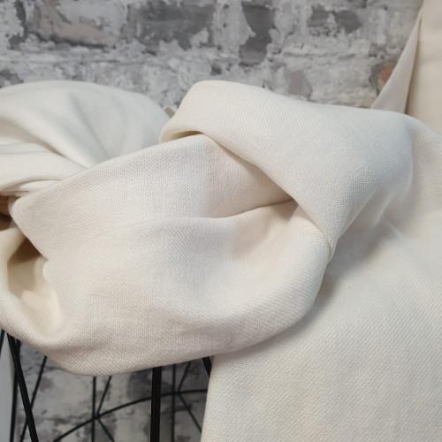 Leinenstretch Creme Weiß